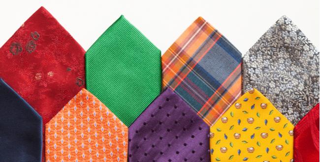 ネクタイの色が与える心理的印象 | 赤・青・オレンジ・緑・紺