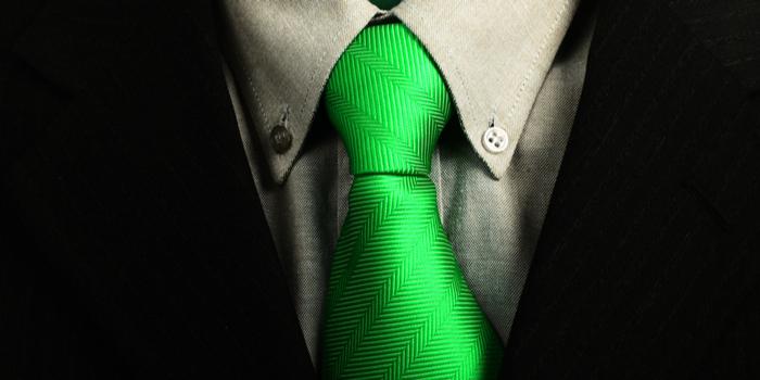 ネクタイ 緑